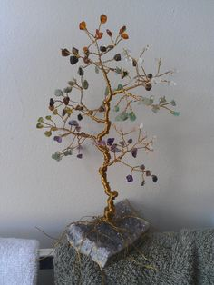 Custom Order Large Gem Tree Sculpture Pick by AnnesWireGemTrees, $80.00