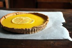 // grapefruit tart with sweet rye crust