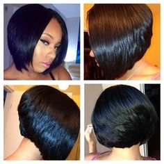 Sheneka Adams' bob. I adore it!
