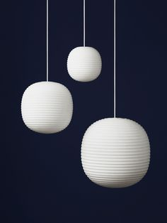 The Lantern Pendent is an elegant combination of iconic form and material exploration. Inspired by the traditional Chinese rice paper lamp, the frosted glass replicates a soft illumination, whilst creating a bold and lasting form. The result is a range of pendants suitable for small intimate spaces, all the way up to large open environments. Available in three different sizes.
