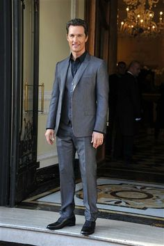 """Matthew McConaughey attends a photocall for """"Dallas Buyers Club"""" at the Hotel Baglioni in Rome on Jan. 28, 2014."""