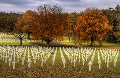 ~Lorraine American Cemetery and Memorial~ Europe's largest United States' World War II military cemetery, with the graves of 10,489 American soldiers who died during World War II.