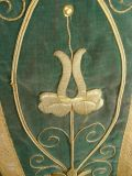 Antiques Dream - French collectibles : Chasuble Velvet Gold Metalics threads. N°241