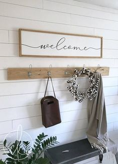 home Art Entryway - Stay awhile sign home wall decor wood framed sign wall art entryway sign entryway wall decor Entryway Hooks, Entryway Wall Decor, Home Wall Decor, Home Wall Art, Cheap Home Decor, Room Decor, Art Decor, Entry Wall, Nursery Decor