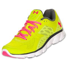 Womens Under Armour Micro G Skulpt Running Shoes | FinishLine.com | Bitter/White/Neon Pulse<<< I  have these and I love them!! they are super comfy!!