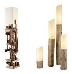 driftwood lamp, lamp idea, creativ candl, candl holder