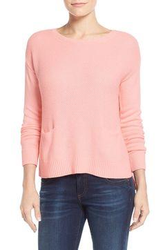 Halogen® Drop Shoulder Pocket Sweater (Regular & Petite) available at #Nordstrom