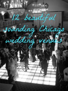 12 beautiful sounding Chicago wedding venues, both in the city and Chicago suburbs. For more wedding planning ideas, visit http://backthird.com/entertainment/hme_happymadeeasy.php #happymadeeasy