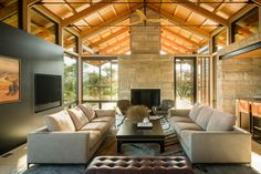 Sunlight from every corner 🌞 … Τhe dramatic pitched roof + floor to ceiling windows , create a subtle vibrance ; neutral warm tones and creams give softness and sophistication👌… masterfully designed by @joelmozerskydesign #interiordesign #architecture #designinspiration #luxurylife #luxuryhomes #design #luxuryhomesmiami #Miami #fortlauderdale #Palmbeach #interiors #designer #architect #homedecor #interiorstyling #decor #realestate #homedesign #elledecor #interiordecorating #livingroominspo