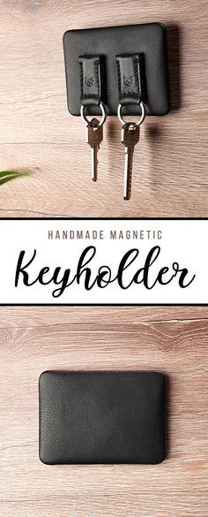 Handmade Home Decor Magnetic Key Holder, Wall Key Holder, Letter Holder, Sewing Letters, Diy Spa Day, Entryway Wall, Leather Projects, Leather Keychain, Handmade Home Decor