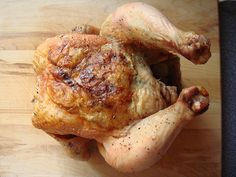 """A 4lb White Rock that I got from my CSA share had """"roast me!"""" practically written all over. I did not disappoint and roasted it I did. I made it following the direction of a winning recipe from food52. I cooked it as written except for adding some fr #christmasrecipes #christmaschicken #christmasturkey"""
