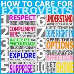 Are You An Introvert Or An Extrovert? What It Means For Your Career - 10 quick tips to better care for an extrovert Extroverted Introvert, Enfp, Istj, Education Positive, School Counseling, How To Be Outgoing, Good To Know, Just In Case, Encouragement
