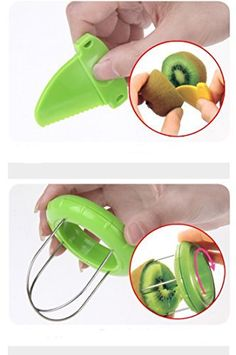 Instructions for use: Just 3 steps,cut kiwi fast and simply. 1.Cut.Using incidental knife,cutting kiwi in half.(It becomes easier to cut when you turn off while rotating the kiwi fruit.) 2.Insert.Centering the kiwi fruit's center,insert until it hits the kiwi fruit skin.*Please use in the... - http://kitchen-dining.bestselleroutlet.net/product-review-for-novelty-fruit-vegetable-kiwi-cutterpeeler-tool/