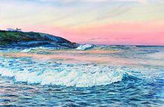 Little Beach, East Coast, Tasmania. Watercolour. Melhillswildart.