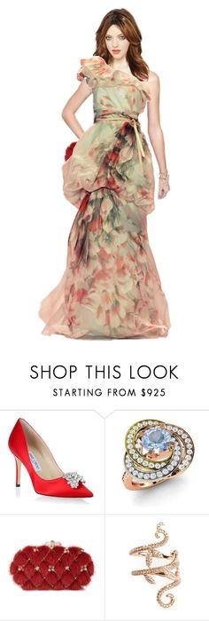 """""""Princess Perizaad Shopping For A Gown"""" by gethelookforless ❤ liked on Polyvore featuring Jimmy Choo, Diamondere, NARS Cosmetics, Marchesa, Elise Dray, women's clothing, women's fashion, women, female and woman"""