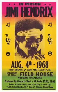hendrix concert posters - Buscar con Google