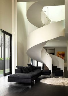 Staircase has an almost organic quality to it