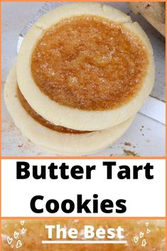 The Best Butter Tart Cookies are the perfect treat to satisfy your sweet craving. Plain or with raisins, walnuts, pecans and chocolate.Easy to make and joy to eat. Enjoy and share the best butter tart cookies. Tart Recipes, Baking Recipes, Cookie Recipes, Dessert Recipes, Shortbread Recipes, Cookie Desserts, Baking Ideas, Yummy Recipes, Yummy Food