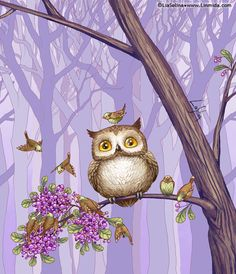 'Owl's Berries' by Lia Selina