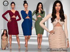 MP Olivia's Dress at BTB Sims – MartyP via Sims 4 Updates