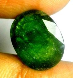 Green Sapphire 8.53 Carat | AstroKapoor.com | Green Sapphire gemstone Price in India | Green Sapphire gemstone Price in Delhi | Buy Certified Green Sapphire Gemstone in wholesale prices