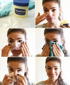 How to get rid of blackheads with Vaseline. Usually, Vaseline is used for making skin smooth and removing the dead skin cell by moisturizing the skin. Beauty Care, Beauty Skin, Beauty Makeup, Face Beauty, Face Makeup, Skin Tips, Skin Care Tips, Get Rid Of Blackheads, Blackheads Nose
