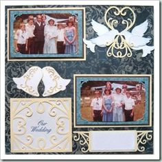 Here is a layout I created for a friend that fits into our Die Cut and Stamp Challenge. I used the new PCW Bells, Doves and Flourishes Set.
