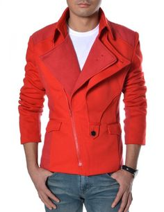 TheLees (DJK21) Mens Casual Rider Style Stretchy Slim Zipper Jacket Jumper Red Large(US Medium) TheLees,http://www.amazon.com/dp/B008S6YSMY/ref=cm_sw_r_pi_dp_aNIdsb0606EW9T2G