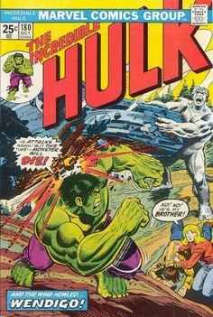 Hulk The Wendigo is back. Hard to find comic, along with Hulk even… Hulk Marvel, Hulk Comic, Marvel Comic Books, Comic Books Art, Comic Art, Marvel Characters, Book Art, Avengers, Comic Superheroes