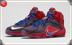 70ce6d00ba07 Nike LeBron 12 GS University Red Game Royal - Midnight Navy