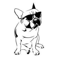 French Bulldog Design SVG DXF EPS Png Cdr Ai Pdf Vector Art Clipart instant…