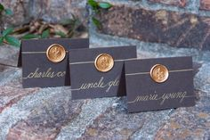 Wedding Name Place Cards / Escort Cards / by SouthernCalligraphy