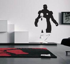 iron man tony stark avengers shield graphic vinyl wall decal for my boys room bedroom upstairs tony stark