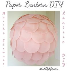 A Bubbly Life: Paper Lantern DIY- Kalia's Nursery- The Details