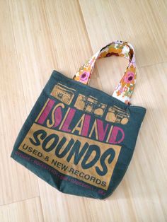 Island Sounds upcycled tshirt tote on Etsy, $20.00