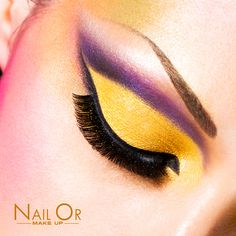 #summer #style #color #yellow #violet #makeup  Nail Or #makeup