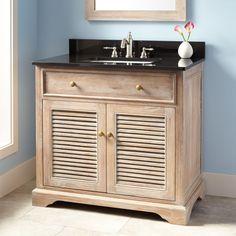 """36"""" Westerfield Vanity for Rectangular Undermount Sink - Whitewash"""