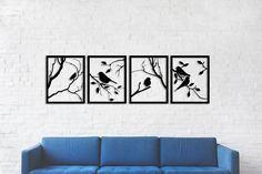 Tree Branches with Lovely Birds, 4 Pieces Metal Wall Art,Modern Rustic Wall Decor,Living Room Home Decor, Special Design New Home Gift - Unique designs metal wall arts of which family and friends will be impressed! Rustic Walls, Rustic Wall Decor, Metal Wall Decor, Diy Wall, Rooms Home Decor, Living Room Decor, Metal Tree Wall Art, New Home Gifts, Metal Walls