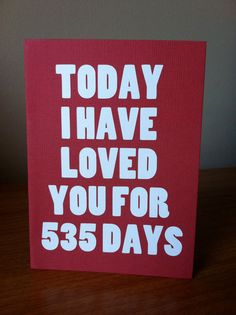 """Valentine Card """"Today I Have Loved You"""""""