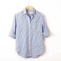 Shirt No.1, Ocean Blue Stripe - California Tailor