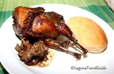 Quali Adobo with liver pate and bread of salt from Bale Dutung Restaurant