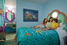 Little Mermaid Room @ Art of Animation Resort...Ok, I am an adult. I do not have children. I want to go stay in this room.