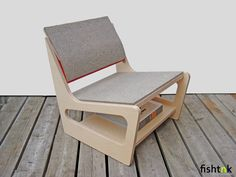 Chair out of Birch Ply wood and Felt