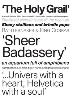 Neue Haas Unica, one of 6 Award-Winning #Typefaces | Put YOUR type to the test. Enter PRINT's Typography & Lettering Awards today for a chance to be featured in Print magazine, receive a prize pack from MyDesignShop.com, and more. Early bird rates for the competition—which features both pro and student categories—end Oct. 14! | #typography #type #handlettering