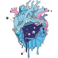 Frozen Alien Heart Sticker