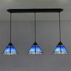ペンダントライト ティファニーライト ステンドグラス照明器具 天井照明 タワー型 3灯 1028-ST06152B