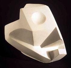"""Alberto Giacometti, """"Head-Skull,"""" 1934, plaster."""