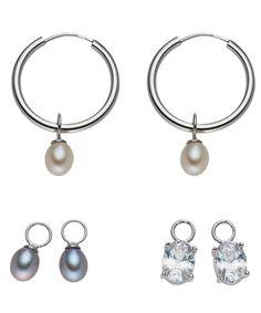Yamato Pearls 0.5cm interchangeable pearl earrings