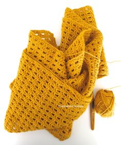 Crochet Scarf By Elisabeth Andrée - Free Crochet Pattern - (elisabethandree.wordpress)