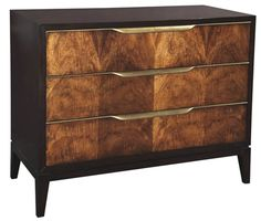 Just a touch of metal.  So masculine and elegant.  I love burled walnut. Emerson et Cie